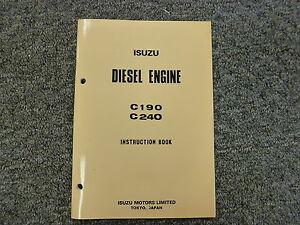 Isuzu Models C190 & C240 Diesel Engine Owner Operator