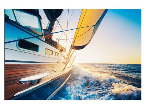 Segelboot Schiff Leinwandbilder auf Keilrahmen A05963 Wandbild Poster