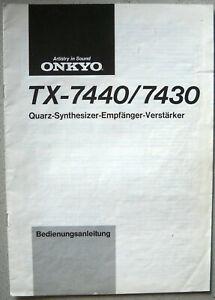 ONKYO-TX-7440-7430-Bedienungsanleitung