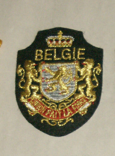 "Belgie Fait La Force 3"" Embroidered Sewn World Travel Patch"