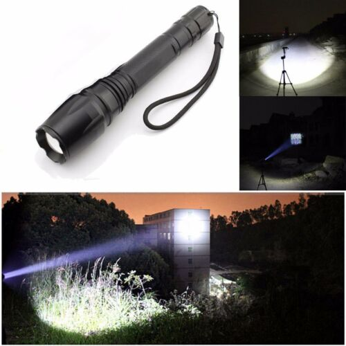 TOP 90000LM T6 LED Flashlight Rechargeable Zoomable Torch+18650BTY Dual Charger