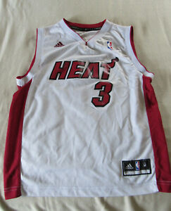 Dwayne Wade #3 Miami Heat Adidas White Jersey Youth Medium ...
