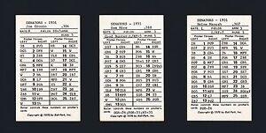 Washington Senators 1931 Ball Park Game cards 21-different