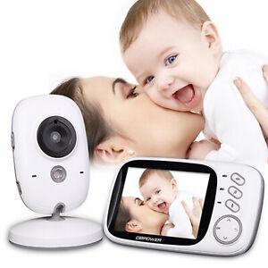 "2-Way Talk 3.2/"" Digital Wireless Baby Monitor Night Vision Video Audio Camera"