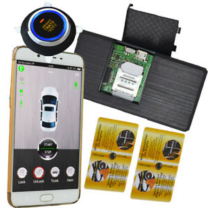 gsm&gps rfid car alarm with engine start stop button remote start stop