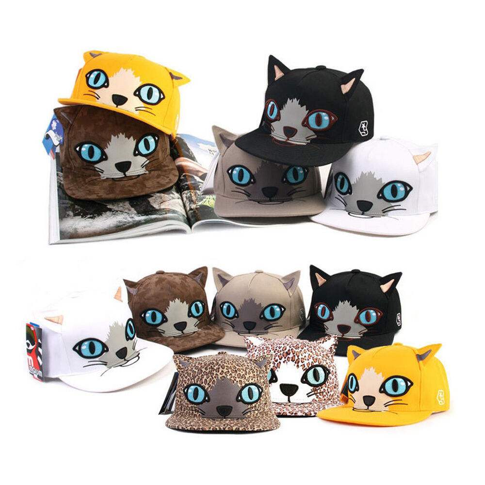 Unisex Puss Mens Womens Girls Cat Puss Unisex Feline Costume Play Baseball Cap Snapback Hats 862981