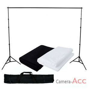 Black-White-Muslin-Cotton-Backdrop-Pro-Photo-Studio-Background-Support-Stand-Kit