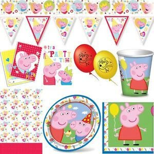 peppa wutz kindergeburtstag party deko set pig schwein dekoration geburtstag ebay. Black Bedroom Furniture Sets. Home Design Ideas