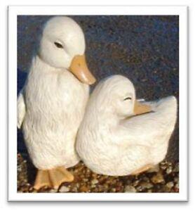 Resin-Cute-Ducks-Pair-Ornament-Home-or-Garden-18-x-10-x-17cm-B8