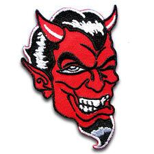 Red Devil Dracula Demon Patch Iron On Badge Emblem Biker Tattoo Rock Vampire Sew