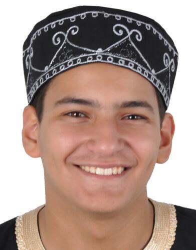 Traditionelle Arabische Herren Kopfbedeckung Fasching Mütze schwarz KB0069