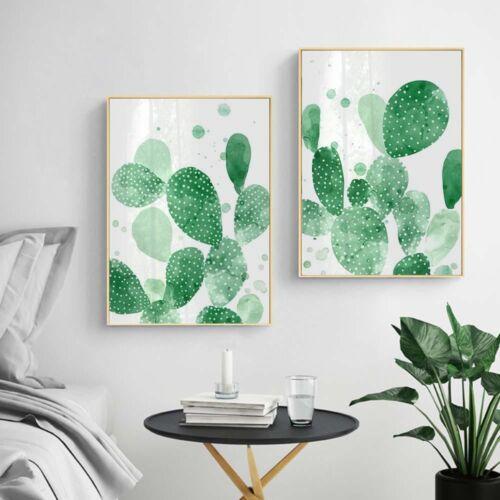 Watercolor Cactus Canvas Poster Plants Art Print Wall Decor