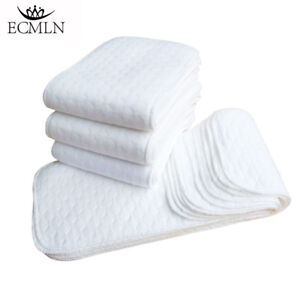 10PCS-Cotton-Cloth-Baby-Diapers-Inserts-Liners-3-Layers-Reusable-Newborn-Nappy