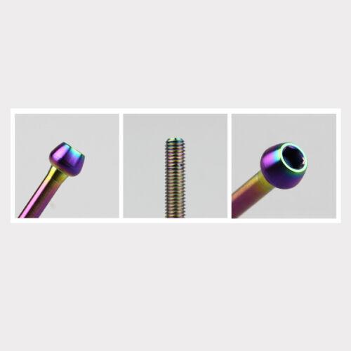 2pcs M5 x 30//35//41//47mm Titanium Seatpost Screws Bolts