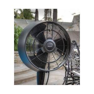 Misting Fan Outdoor Cooling Oscillating Pedestal Blower ...