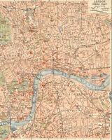 London vintage map - Vintage Art Print Poster - A1 A2 A3 A4 A5