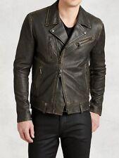 FINAL PRICE: John Varvatos Spray Dye Assym Leather Jacket New/Dustbag IT50/UK40