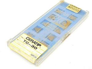 NEW-SURPLUS-10PCS-CERATIP-TPGE-732-GRADE-TC30-CERMET-INSERTS
