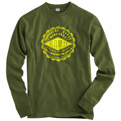 Los Claveles Long Sleeve T-shirt LS Youth Vintage Logo Queso Spanish Men