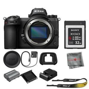 Nikon Z7 Mirrorless Digital Camera (Body Only) + SONY 32XQD Card