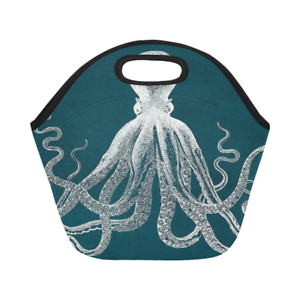 Neoprene Lunch Bag Octopus Best Lunch Box//Lunch Tote Bags