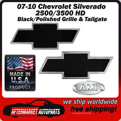 All Sales 96091K Rear Tailgate Emblem Black Powder Coat Chevy Bow-Tie w//o Border