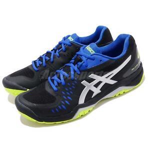 73ac1ab5933e9 Asics Gel Challenger 12 Black Silver Blue Men Tennis Shoes Sneakers ...