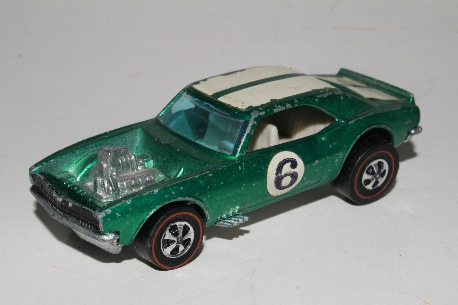 Hot Wheels rojoline Chevy pesado, verde metálico, Lindo, Original