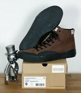 Huf-Worldwide-Footwear-Skate-Schuhe-Shoes-Classic-Hi-Brown-Black-Canvas-12-45-5