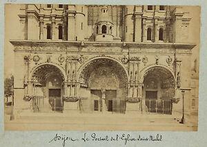 Dijon, il Portale Di Chiesa San Michel, Vintage Albumina Ca 1890