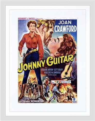 MOVIE FILM JOHNNY GUITAR JOAN CRAWFORD WESTERN BLACK FRAMED ART PRINT B12X5524