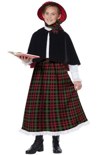 Brand New Christmas Holiday Caroler Girl Child Costume