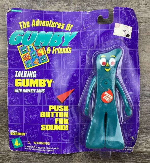 """6/"""" Talking Gumby with Movable Arms 1995 Trendmasters Original Packaging"""