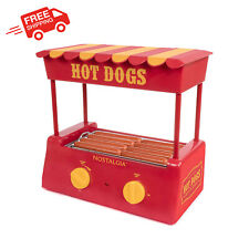 8 Hot Dog Roller Warmer 6 Bun Capacity Home Kitchen Business Red White Stainless