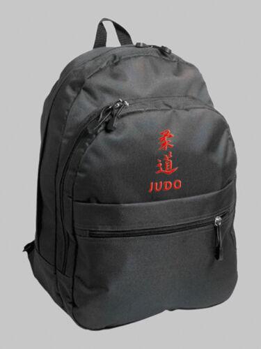 Rucksack mit Bestickung Judo japanische Kanji und deutsch gute Qualität