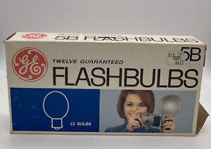 Vintage GE Flash Bulbs 5B Box of 11 Camera Flashbulbs General Electric - NIB