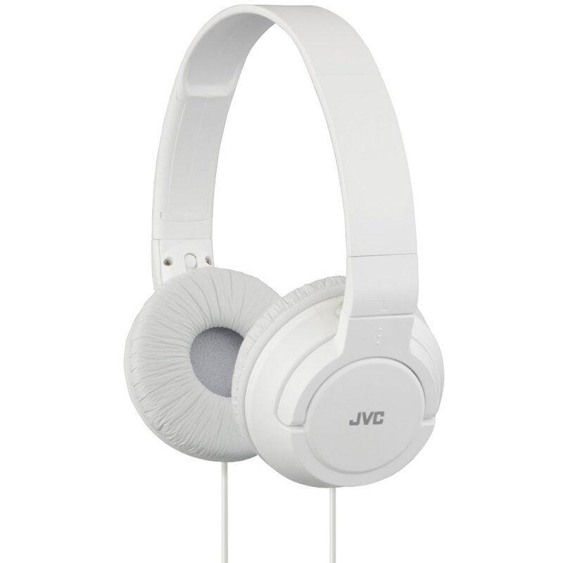 JVC HAS180 Lightweight Powerful Deep Bass Comfortable Over Ear Headphones White