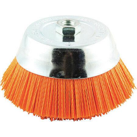 """ZORO SELECT 66252838688 Cup Brush,Wire 0.040/"""" dia.,Nylon"""