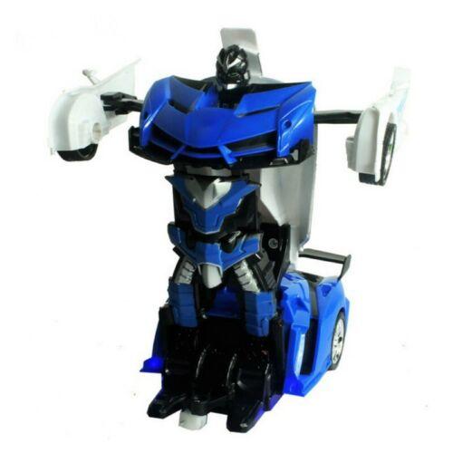 Gesture Sensing Remote Control Robot One Button Transformation Car Kids Toy