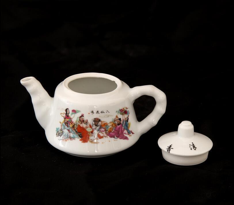 China antique Porcelain jingdezhen Huairentang peachblossom Teapot  Wine pot A1