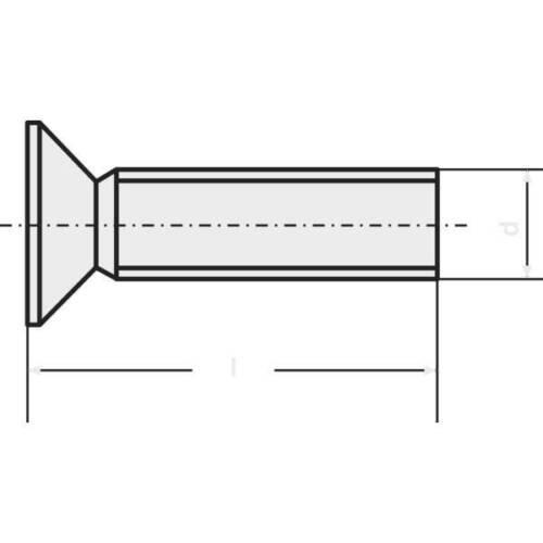 Toolcraft 839909 viti svasate m2.5 6 mm torx din 965 acciaio inox a2 20 pz