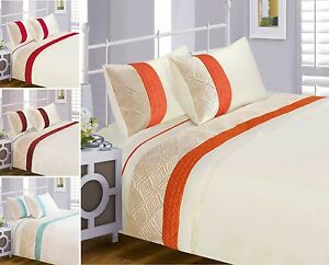 Image Is Loading Luxury New Quilted Duvet Cover Bedding Set Red