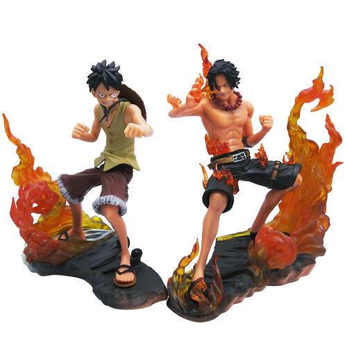 2x One Piece Portgas.D.ACELuffy Figure Set New In Box