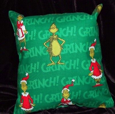 Grinch Tied Pillow