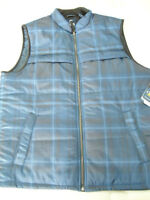 Mens Size Large Chaps Explorer Performance Water Resistant Blue Summit Vest