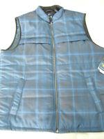 Mens Size Xl Chaps Explorer Performance Water Resistant Blue Summit Vest
