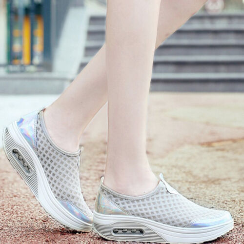 Casual Women/'s Breathable Sneakers Flats Athletic Mesh Platform Sport Shoes Size