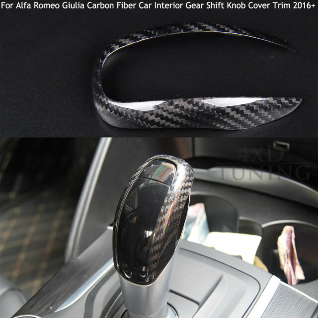 Carbon Fiber Car Interior For Alfa Romeo Giulia Gear Shift