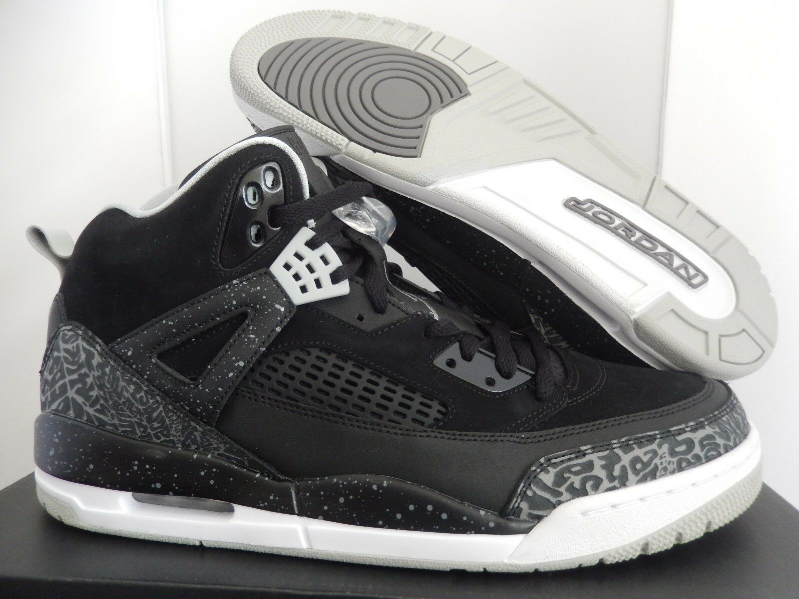 NIKE AIR JORDAN SPIZIKE BLACK-COOL GREY-WHITE SZ 11 OREO! [315371-004]