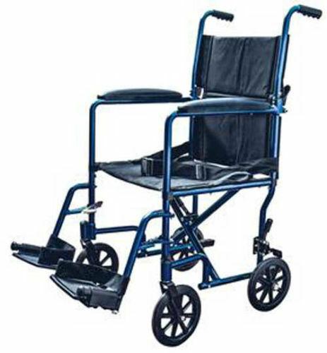 Premium Transport Chair Wheel Chair Light Weight Aluminum